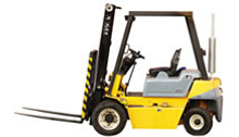 5,000 lb. 4WD Reach Forklift