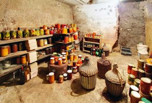 root-cellar-with-perserved-foods
